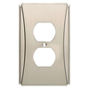 Brainerd Upton 1-Gang Satin Nickel Single Duplex Wall Plate
