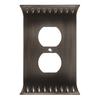 Brainerd Wadsworth 1-Gang Slate Standard Duplex Receptacle Metal Wall Plate
