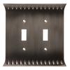 Brainerd Wadsworth 2-Gang Slate Standard Toggle Metal Wall Plate