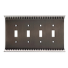 Brainerd Wadsworth 4-Gang Slate Standard Toggle Metal Wall Plate
