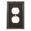 Brainerd Ruston 1-Gang Venetian Bronze Round Wall Plate