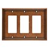 Brainerd Ruston 3-Gang Sponged Copper Triple Decorator Wall Plate