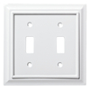 Brainerd Architectural 2-Gang Pure White Double Toggle Wall Plate