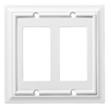 Brainerd Architectural 2-Gang Pure White Double Decorator Wall Plate