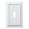 Brainerd Beadboard 1-Gang Pure White Single Toggle Wall Plate