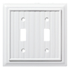 Brainerd Beadboard 2-Gang Pure White Double Toggle Wall Plate