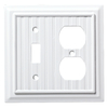 Brainerd Beadboard 2-Gang Pure White Single Toggle/Duplex Wall Plate
