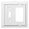 Brainerd Beadboard 2-Gang Pure White Single Toggle/Decorator Wall Plate