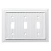 Brainerd Beadboard 3-Gang Pure White Triple Toggle Wall Plate