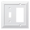 Brainerd Wood Architectural 2-Gang Pure White Single Toggle/Decorator Wall Plate