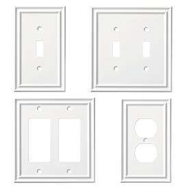 4 Gang Modular Visage Plaque Mural Outlet Plaque Blanc Philex 70404RE