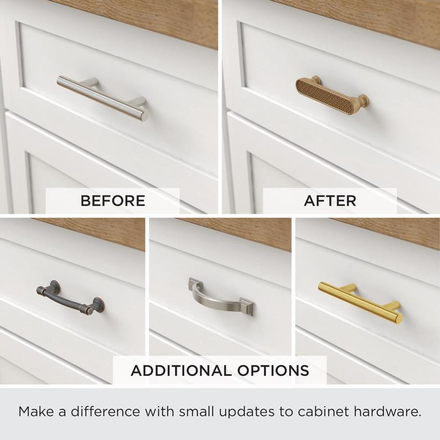 """Lot of 6 Stainless Steel Finish /""""Twisted/"""" Drawer Cabinet Pulls 3.5/"""" Centers"""