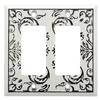 Brainerd Fairhope 2-Gang White Wash Wall Plate