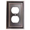 Brainerd Architectural 1-Gang Delta Oil Rubbed Bronze Single Duplex Wall Plate