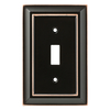 Brainerd Architectural 1-Gang Delta Oil-Rubbed Bronze Wall Plate