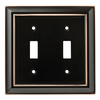 Brainerd Architectural 2-Gang Delta Oil Rubbed Bronze Double Toggle Wall Plate
