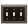 Brainerd Architectural 3-Gang Delta Oil Rubbed Bronze Standard Toggle Metal Wall Plate