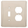 Brainerd Upton 2-Gang Satin Nickel Single Toggle/Duplex Wall Plate