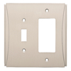Brainerd Upton 2-Gang Satin Nickel Single Toggle/Decorator Wall Plate