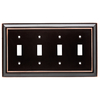 Brainerd Architectural 4-Gang Delta Oil Rubbed Bronze Standard Toggle Metal Wall Plate