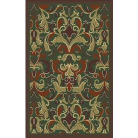 Regence Home Malmesbury Rectangular Multicolor Floral Woven Accent Rug (Common: 3-ft x 5-ft; Actual: 39-in x 55-in)
