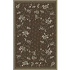 Regence Home Malmesbury 39-in x 55-in Rectangular Brown Floral Accent Rug