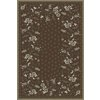 Regence Home Malmesbury 60-in x 84-in Rectangular Brown/Tan Floral Area Rug