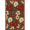 Regence Home Winchester 39-in x 55-in Rectangular Red Floral Accent Rug
