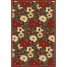 Regence Home Winchester Rectangular Red Floral Woven Area Rug (Common: 5-ft x 8-ft; Actual: 5-ft x 7.5-ft)