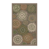 Regence Home Wellington 36-in x 60-in Rectangular Brown Transitional Accent Rug