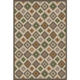 Regence Home Wellington Rectangular Gray Geometric Indoor/Outdoor Tufted Wool Area Rug (Common: 6-ft x 9-ft; Actual: 6-ft x 9-ft)