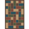 Regence Home Wellington Rectangular Brown Geometric Indoor/Outdoor Tufted Wool Area Rug (Common: 4-ft x 6-ft; Actual: 4-ft x 6-ft)
