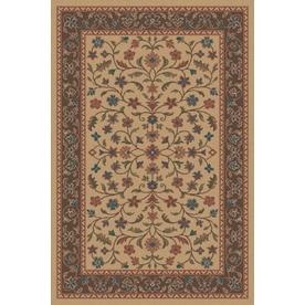 Regence Home Wellington Rectangular Brown Floral Indoor/Outdoor Tufted Wool Area Rug (Common: 6-ft x 9-ft; Actual: 6-ft x 9-ft)
