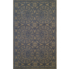 Style Selections 27-in x 45-in Rectangular Blue Transitional Accent Rug