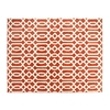 allen + roth Kentby Orange and White Rectangular Indoor Machine-Made Area Rug (Common: 8 x 9; Actual: 90-in W x 108-in L)