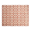allen + roth Kentby White and Orange Rectangular Indoor Machine-Made Area Rug (Common: 8 x 9; Actual: 90-in W x 108-in L)