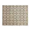 allen + roth Kentby White and Mocha Rectangular Indoor Machine-Made Area Rug (Common: 8 x 9; Actual: 90-in W x 108-in L)