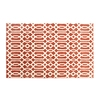 allen + roth Kentby Orange and White Rectangular Indoor Machine-Made Area Rug (Common: 5 x 8; Actual: 60-in W x 90-in L)