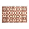 allen + roth Kentby White and Orange Rectangular Indoor Machine-Made Area Rug (Common: 5 x 8; Actual: 60-in W x 90-in L)