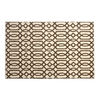 allen + roth Kentby White and Mocha Rectangular Indoor Machine-Made Area Rug (Common: 5 x 8; Actual: 60-in W x 90-in L)
