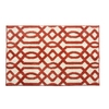 allen + roth Kentby White and Orange Rectangular Indoor Machine-Made Throw Rug (Common: 2 x 3; Actual: 22.5-in W x 34-in L)
