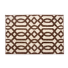 allen + roth Kentby White and Mocha Rectangular Indoor Machine-Made Throw Rug (Common: 2 x 3; Actual: 22.5-in W x 34-in L)