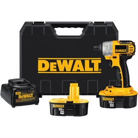 DEWALT 18-Volt Nickel Cadmium (NiCd) 1/4-in Cordless Variable Speed Impact Driver with Hard Case