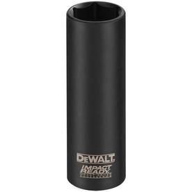 DEWALT 3/8-in Drive 1/4-in Deep Standard (SAE) Impact Socket