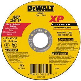 DEWALT 4-1/2-in Turbo High-Performance Aluminum Oxide Circular Saw Blade