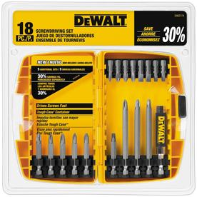 DEWALT 18-Piece Screwdriver Set with Drive Guide and Case