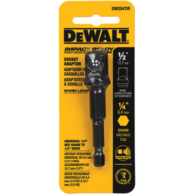 DEWALT 1/4-in to-1/2-in Impact Ready Hex Shank Socket Adapter