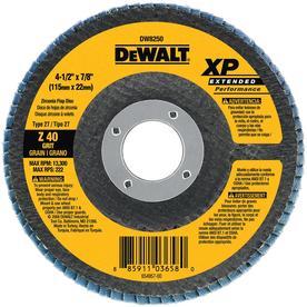 DEWALT 40-Grit 4.5-in W x 4.5-in L Flap Disc Sandpaper