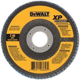 DEWALT 60-Grit 4-1/2-in W x 4-1/2-in L Flap Disc Sandpaper
