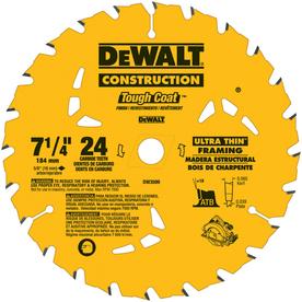 DEWALT Precision Trim 7-1/4-in 24-Tooth Standard Carbide Circular Saw Blade